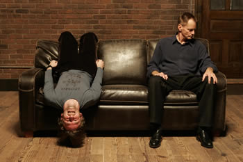 "Dallas Roberts and Sam Shepard in ""A Number,"" by Caryl Churchill, New York Theater Workshop"