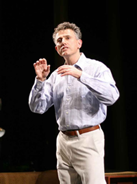 "David Greenspan in ""The Argument,"" Target Margin Theater at The Kitchen, NYC, June 2007. Photo: Hilary McHone."