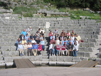 Brustein and company at an ancient theatre is in Butrint, near Saranda, in Albania