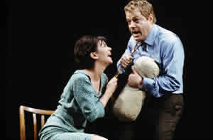 Victoria Hamilton and Eddie Izzard in A Day in the Death of Joe Egg