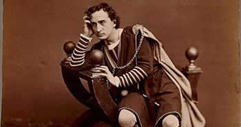 Edwin Booth as Hamlet, c. 1870. Photo: Library of Congress