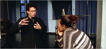 Tony Kushner and Jeanine Tesori rehearsing Brecht's Mother Courage, Public Theater, NYC, 2006