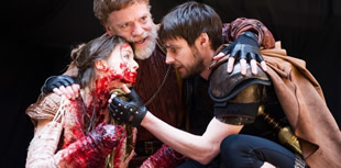 "Shakespeare's ""Titus Andronicus"" at the Globe Theatre, dir. Lucy Bailey. Photo: Alastair Muir"